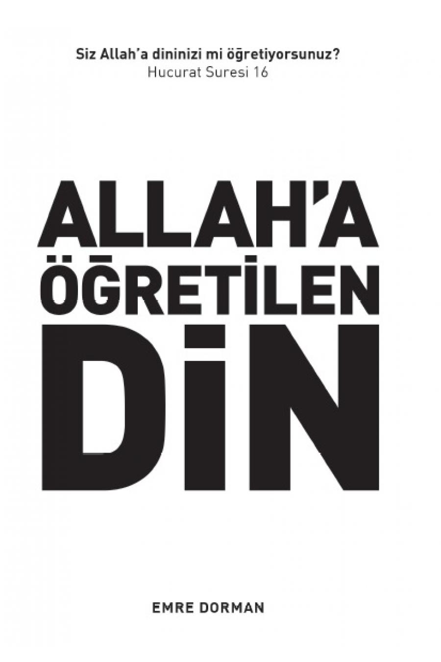 Allah'a Öğretilen Din