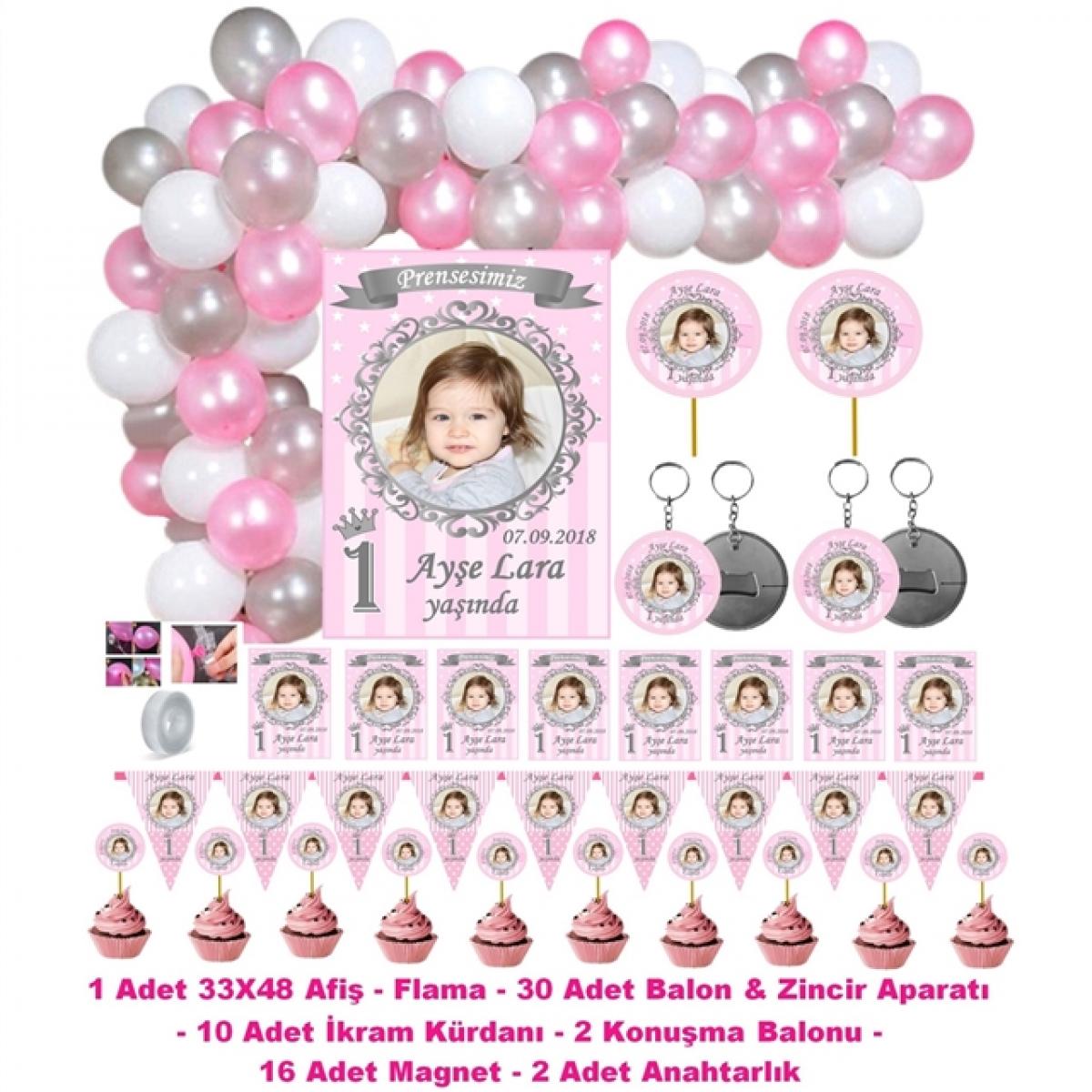 Prenses Doğum Günü Parti Seti