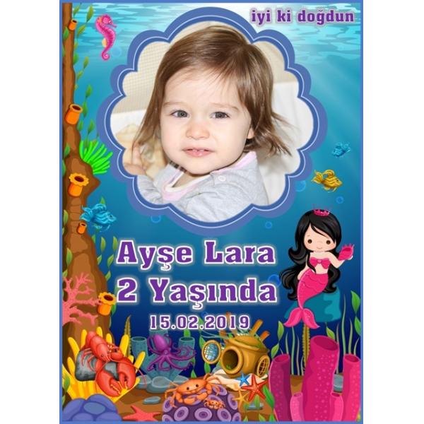 Deniz Kızı Doğum Günü Magnet Deniz Kızı Doğum Günü Magnet