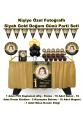Siyah Gold Doğum Günü Parti Seti Masa etekli