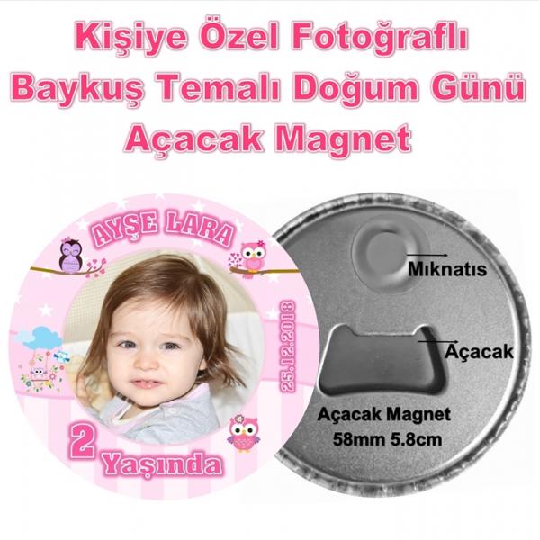 Baykuş Temalı Doğum Günü Açacak Magnet Baykuş Temalı Doğum Günü Açacak Magnet