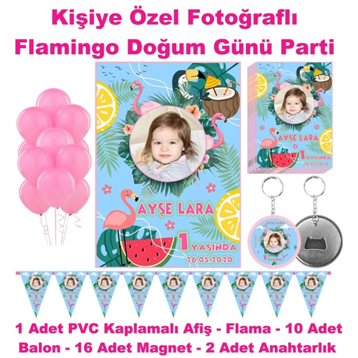 Flamingo Temalı Doğum Günü Parti Seti
