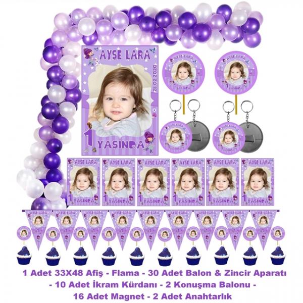 Doğum Günü Parti Seti Kişiye Özel Fotoğraflı