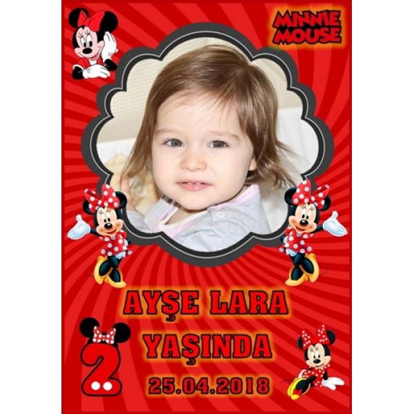 Minnie Mouse Temalı Doğum Günü Magnet Kişiye Özel Minnie Mouse Temalı Doğum Günü Magnet Kişiye Özel