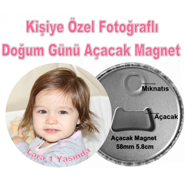 Fotoğraflı Doğum Günü Açacak Magnet Fotoğraflı Doğum Günü Açacak Magnet