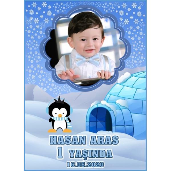 Penguen Temalı Doğum Günü Magnet Kişiye Özel Fotoğraflı Penguen Temalı Doğum Günü Magnet Kişiye Özel Fotoğraflı