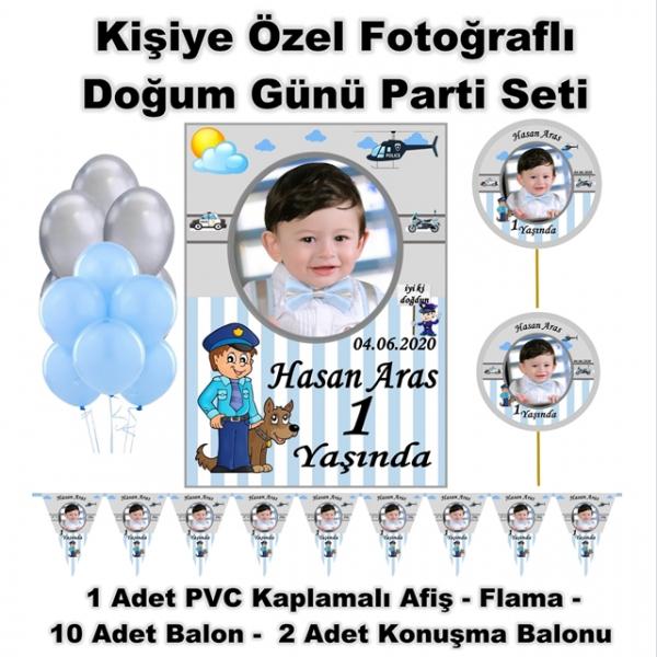 Doğum Günü Parti Seti Kişiye Özel Fotoğraflı Hediye  Doğum Günü Parti Seti Kişiye Özel Fotoğraflı Hediye