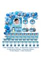Penguen Doğum Günü Parti Seti Kişiye Özel Fotoğraflı Hediye