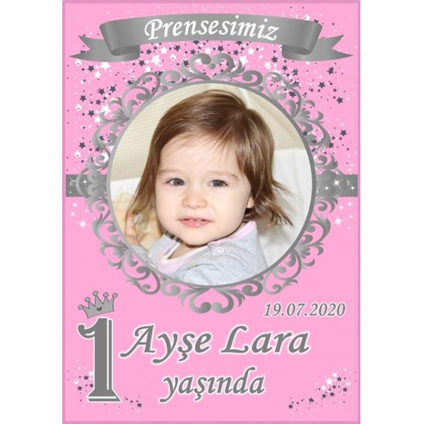 Prenses Doğum Günü Magnet Kişiye Özel Fotoğraflı  Prenses Doğum Günü Magnet Kişiye Özel Fotoğraflı