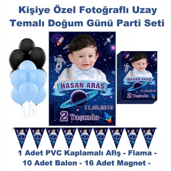 Uzay Temalı Doğum Günü Parti Seti Kişiye Özel Fotoğraflı Hediye Uzay Temalı Doğum Günü Parti Seti Kişiye Özel Fotoğraflı Hediye