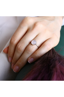 Stelart Jewelry Bacchus Yüzük | Pembe Kuvars | 925 Ayar Gümüş