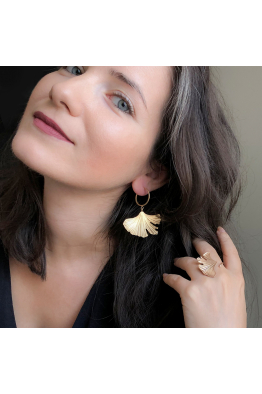 Stelart Jewelry Reborn Halka Küpe   18 Ayar Altın Kaplama