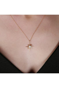Antique Yıldız Kolye | Zirkon | 925 Gümüş | Rosegold Kaplama