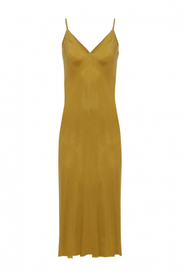 Pia Brand PIA Banded Slip Dress - Lemon