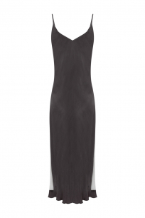 PIA Banded Slip Dress - GREY