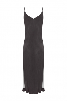 Pia Brand PIA Banded Slip Dress - GREY