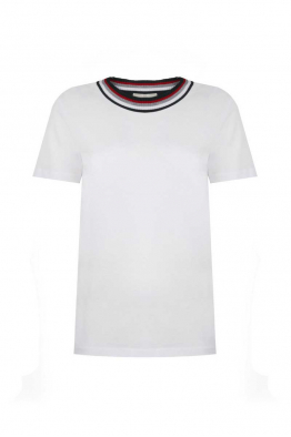 Pia Brand Stripy Neck T-Shirt