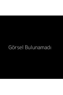 Çizgili triko yakalı uzun kollu t-shirt