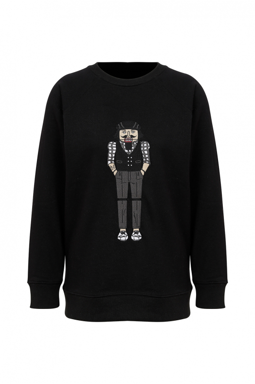 Mr Leo Black Sweatshirt