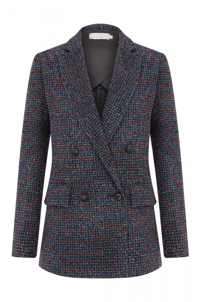 SIENNA BLAZER - GREEN&CORAL