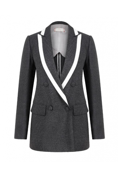 Smokey Tipped Blazer