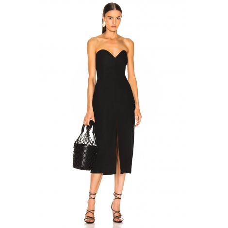 3d61a9f1caf79 ... by UMUT Design; Önden Yırtmaçlı Straplez Elbise. Önden Yırtmaçlı  Straplez Elbise