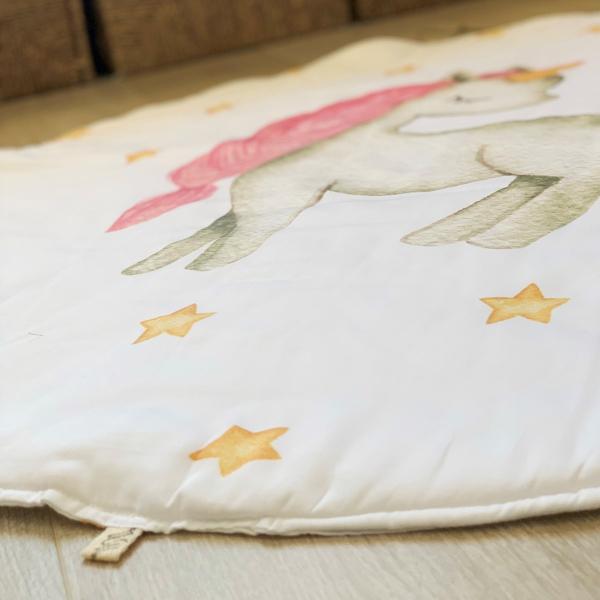 Asu Baby&Kids Unicorn Organik Pamuk Katla& Taşı Minder 100 cm
