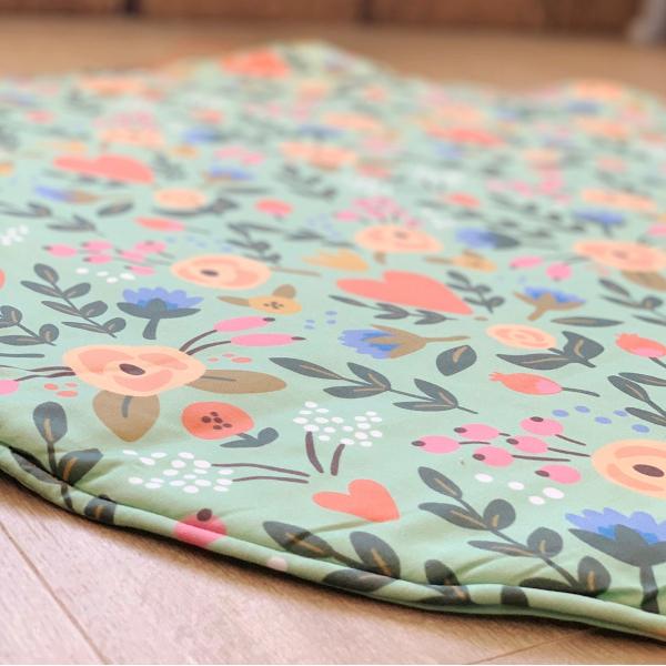 Asu Baby&Kids Floral Organik Pamuk Katla& Taşı Minder 100 cm