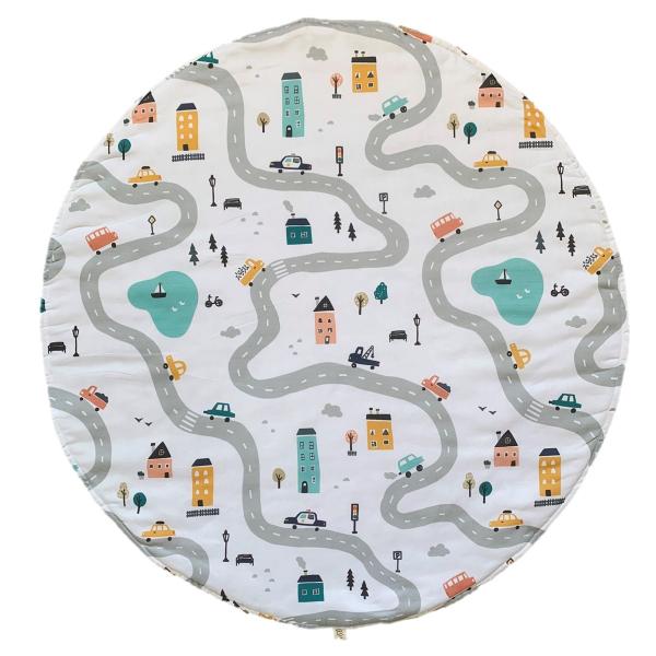 Asu Baby&Kids Traffic Organik Pamuk Katla& Taşı Minder 80 cm