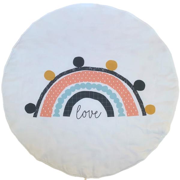 Asu Baby&Kids Rainbow Organik Pamuk Katla& Taşı Minder 80 cm