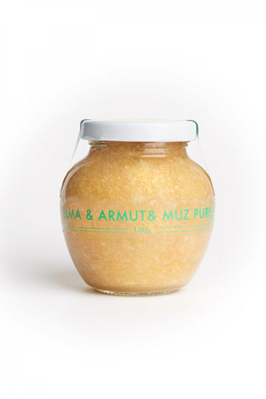 Elma & Armut & Muz Püresi (180 gr)