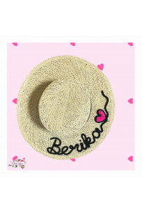 WICKER BOATER HAT