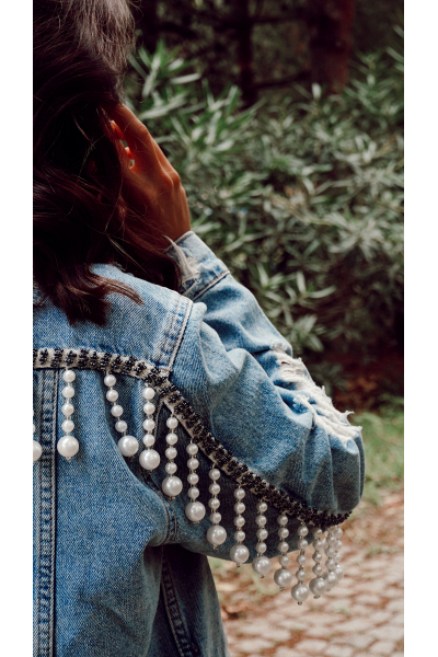 PEARL DENIM JACKET PEARL DENIM JACKET