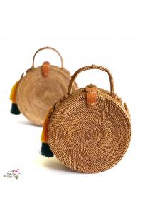 ORCHID VINE ROUND BAG