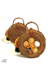 SEA SHELL ROUND BAG