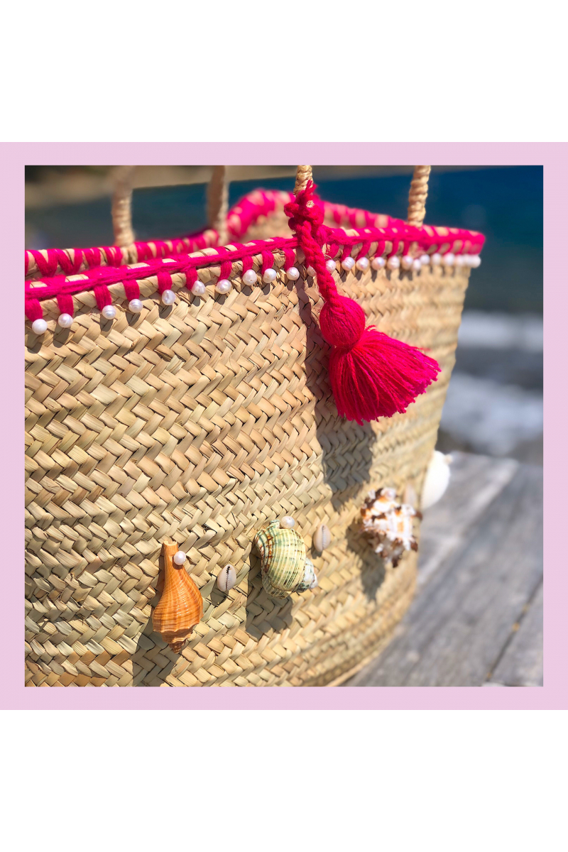 Aqua Basket Bag