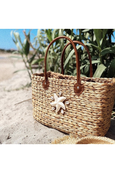 NACRE STAR BEACH BAG
