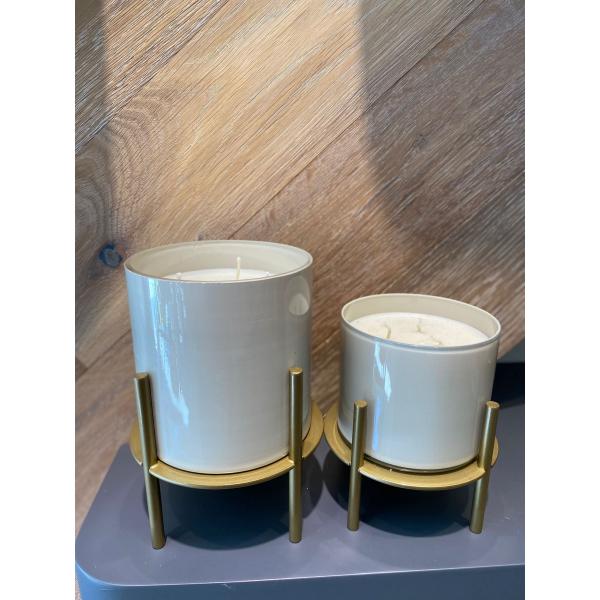 Mei Design Pirinç Ayaklı Cam Mumluk - Büyük boy