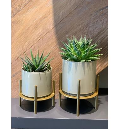 Mei Design Bonnie Cam Vazo  - Krem