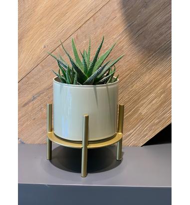 Mei Design Clyde Cam Vazo - Krem