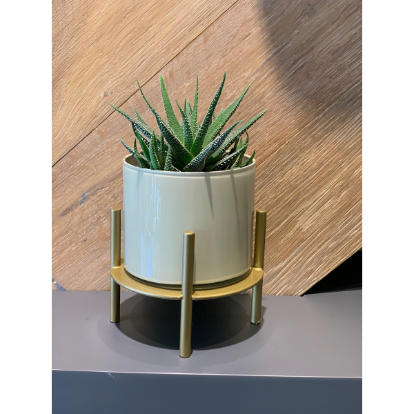 Mei Design Clyde Cam Vazo - Bej