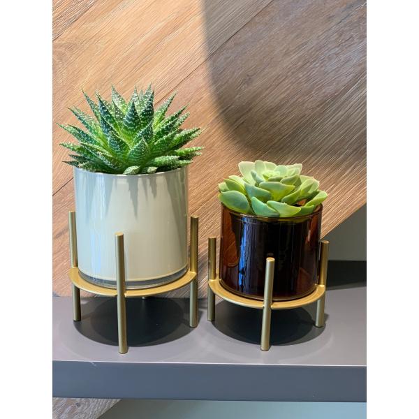Mei Design Clyde Cam Vazo - Tarçın