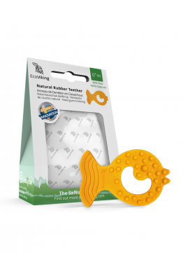 Doğal Kauçuk Organik Diş Kaşıyıcı BALIK EV0094