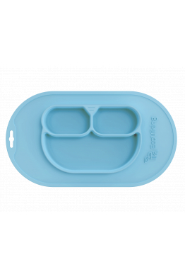 Tıbbi Sınıf Silikon Kaymayan Özel Mama Tabağı 420ml Mavi EV0100