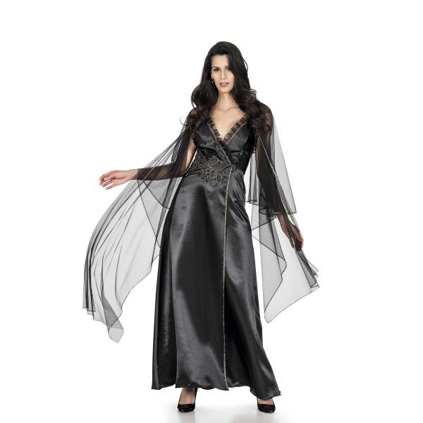 For DreamsKadın Siyah Uzun Gecelik Sabahlık Takım - RNL-FRDRMS4038 For DreamsKadın Siyah Uzun Gecelik Sabahlık Takım - RNL-FRDRMS4038