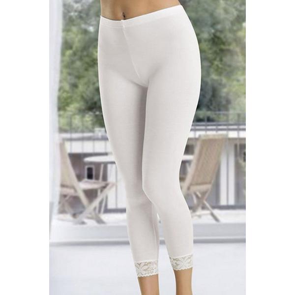Paça Dantelli Uzun Beyaz  Kadın Tayt - RNLDRY413W Paça Dantelli Uzun Beyaz  Kadın Tayt - RNLDRY413W