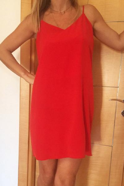 THIN DRESS RED