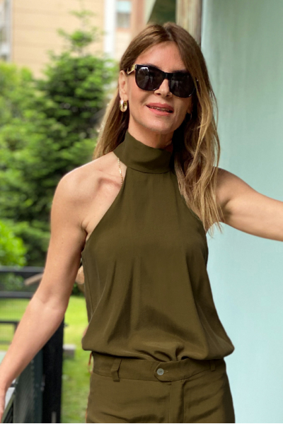 BARBELL BLOUSE GREEN