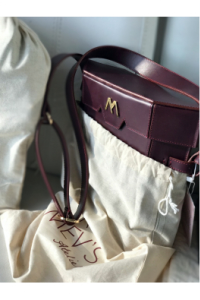 BIGELOW Leather Bag - Burgundy