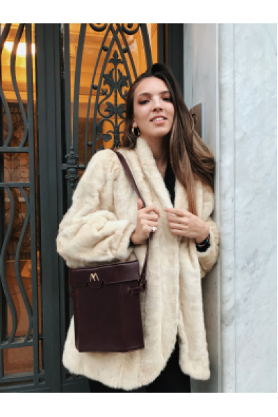 BIGELOW Leather Bag - Burgundy
